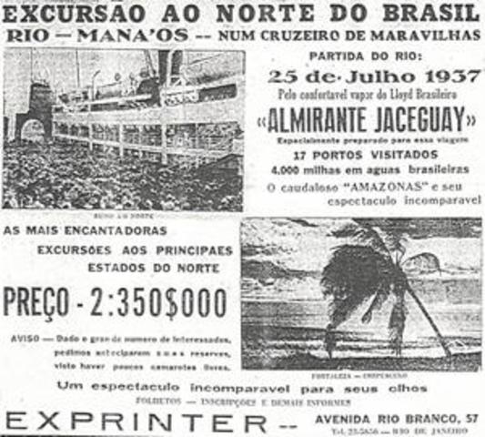 1º CRUZEIRO MARÍTIMO NA COSTA BRASILEIRA