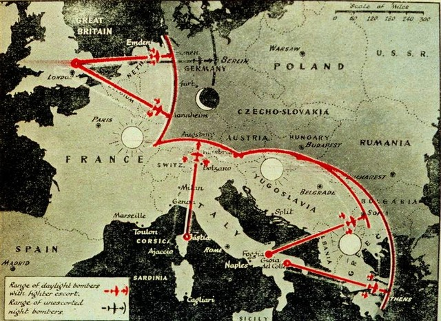Round the clock bombing of Germany