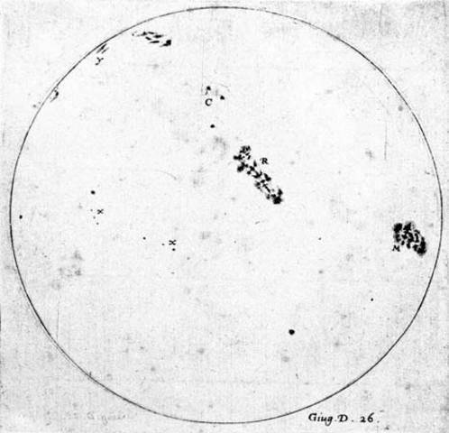 Discovery of Sunspots