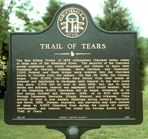 Trail of Tears begins