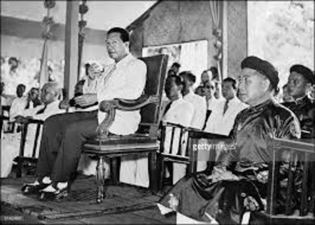 Leading to Vietnam- Ngo Dinh Diem ousts Bao Dai