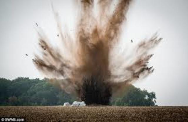 Mortar Shell Explosion