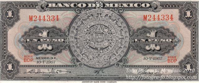 el billete del banco de mexico