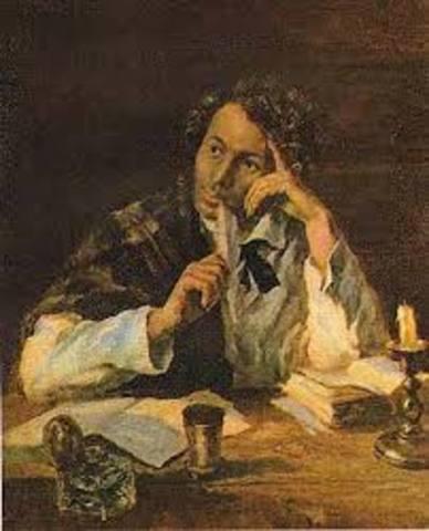 В биографии А. Пушкина после повышения его в чин камер-юнкера, он принимает решение покинуть службу и подает в отставку. Положение поэта выглядит и вовсе бедственно, поскольку многие произведения Пушкина не допускаются к печати из-за цензуры.
