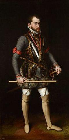 Felipe II nuevo rey de España.