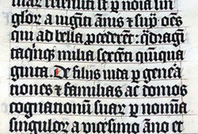 Рунический вариант латинского алфавита.