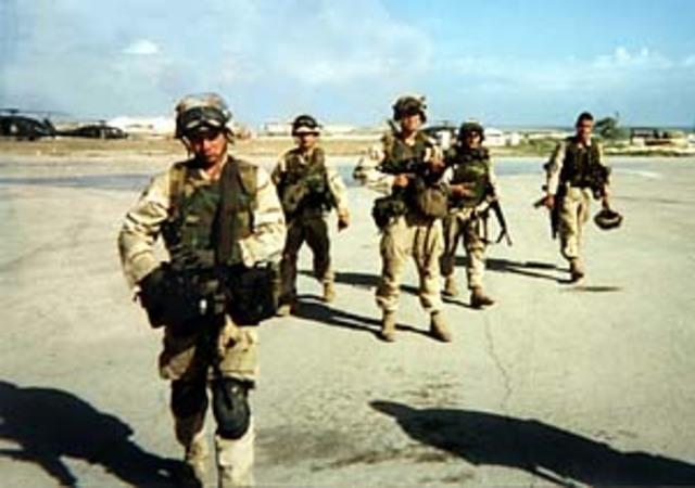 U.S Marines and Navy Seals Arrive