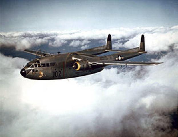 12 Fairchild C119 airplanes