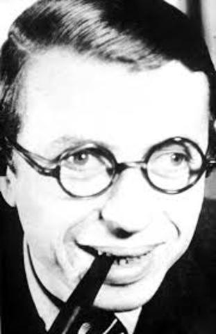 """J. P. Sartre publica """"La náusea"""""""
