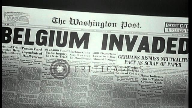 Germany invaded Belgium