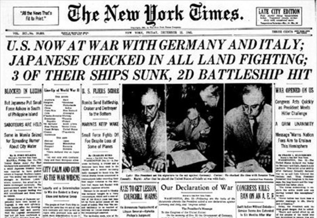 Germany and Italy Declares War-Europe WW2