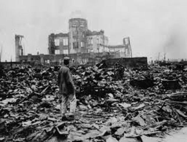 The U.S. drops an atomic bomb on Hiroshima, Japan