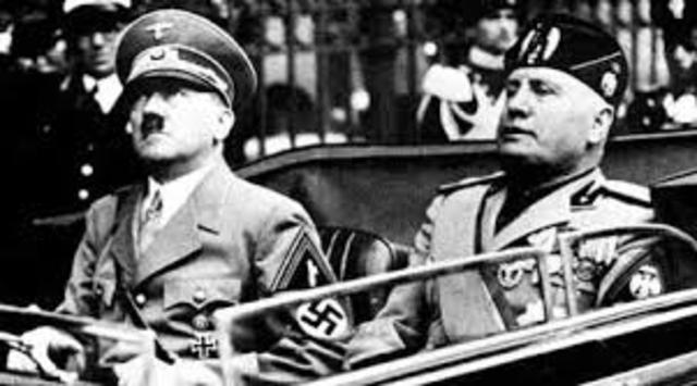 Nazis sign Pact of Steel