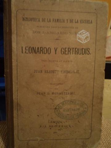 """""""Leonardo y Gertrudis"""" Pestalozzi"""