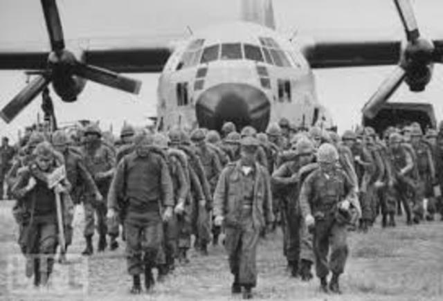 US combat troops landed