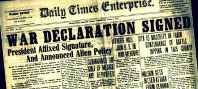 WW1- War Declaration
