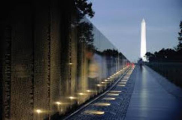 Vietnam War Memorial is completed
