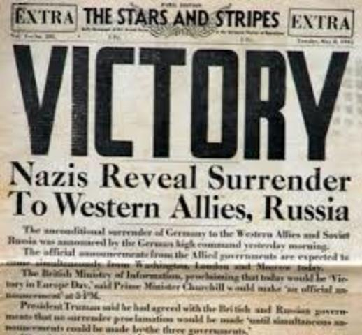 Germany surrenders and the war is won