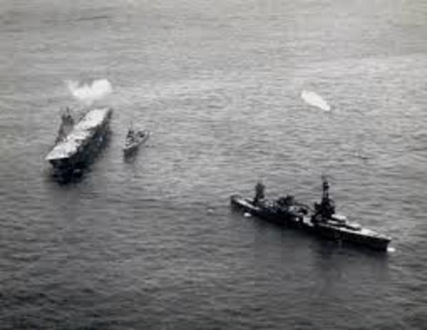 USA vs Japan at sea