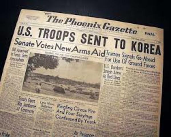 U.S. enters Korean War