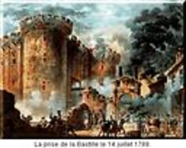 Parisioans storm the Bastille