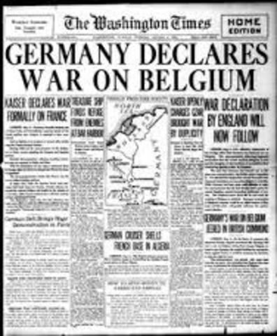 Germany declaring war