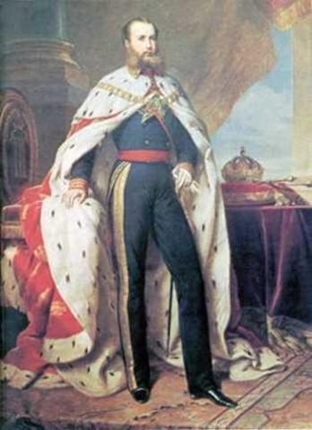 Maximiliano de Habsburgo aceptó la corona de México