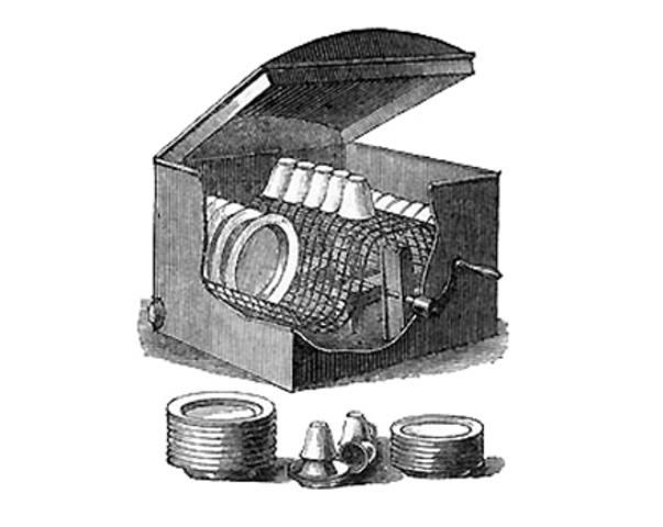 Вид в разрезе посудомоечной машины миссис Кокрейн