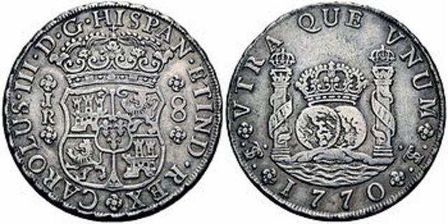 Moneda redonda: columnarios