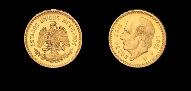 """Inscripción """"estados Unidos Mexicanos"""" en la moneda"""