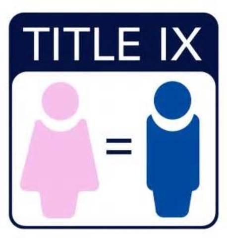 Title IX Makes Its Debut (CCG)