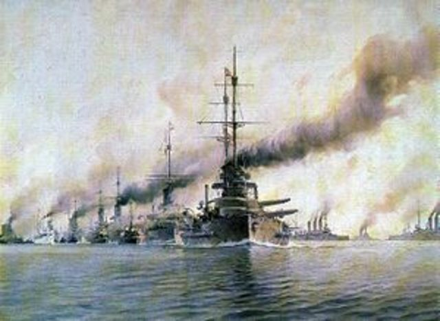 Batalla naval de Jutlandia.