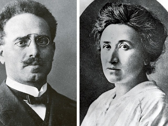 Rosa Luxemburgo y Carlos Liebknecht
