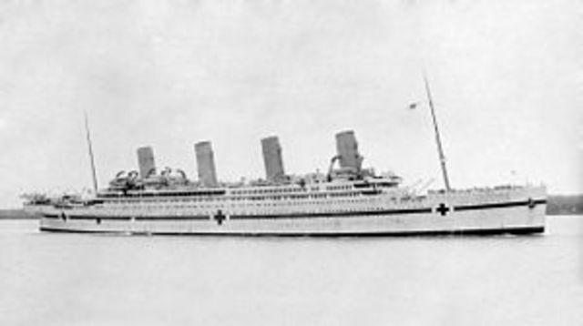 Hundimiento del HMHS Britannic.