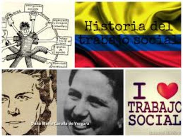 Historia del Trabajos Social en Colombia  en tres grades periodos