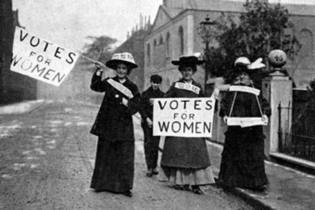 voto femenino en Estados Unidos