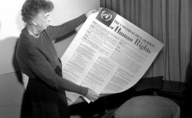firma de la Declaracion Universal de los Derechos Humanos