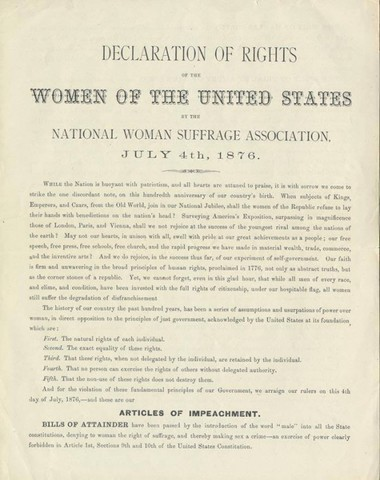 Declaration of Rights of the Women of the United States