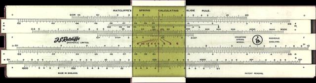 Логарифмические линейки с бегунком