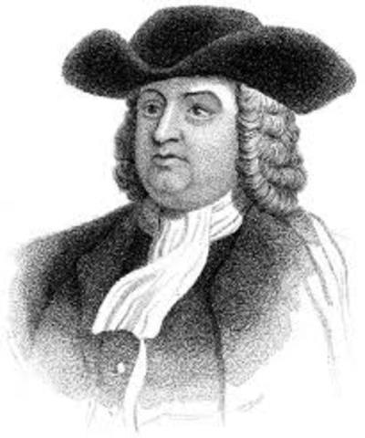 William Penn Jr. accquires Pennsylvania