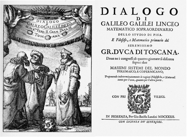 Galileo's novel Dialogue was banned