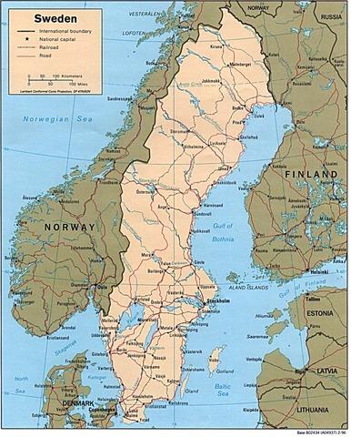 Sweden established permanet towns.