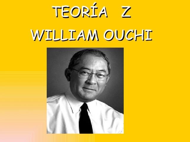 William Ouchi La teoria Z