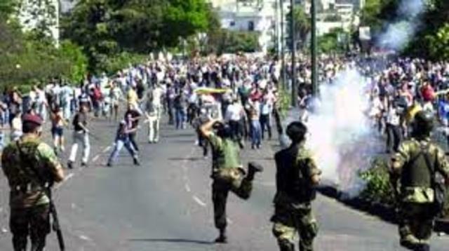 Represión Al Pueblo Salvadoreño Por Parte De La Guardia Nacional