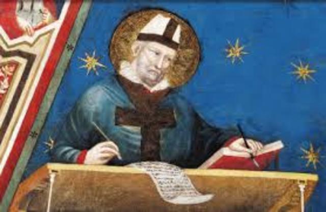La teoría de la iluminación Medioevo – Escolástica San Agustín (Años 354 - 430)