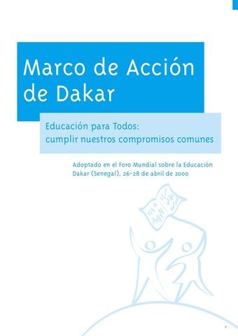 Foro Mundial sobre Educación en Dakar