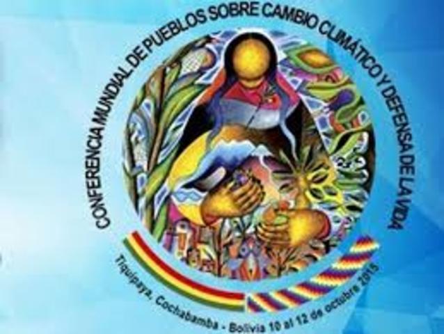 Conferencia Mundial de los pueblos sobre el Cambio climático y Derechos de la Tierra Madre