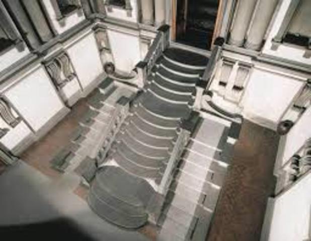 Escalinata y vestíbulo de la Biblioteca Laurenziana,