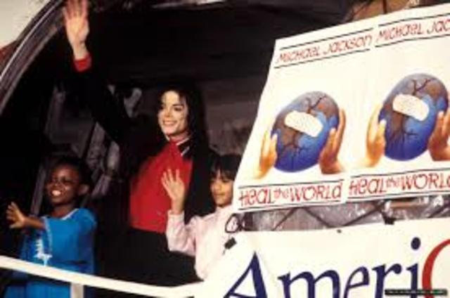 Jackson's Heal the World Foundation and The Dangerous World Tour