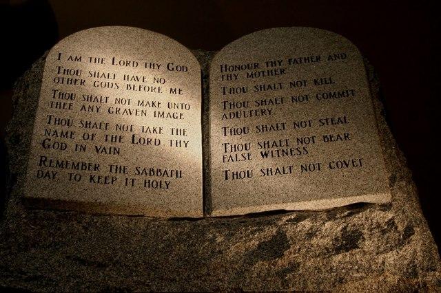 Hebrews- Ten Commandments (pg.204)